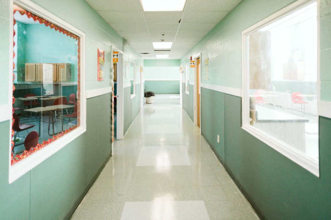 Hallway leading to Classrooms